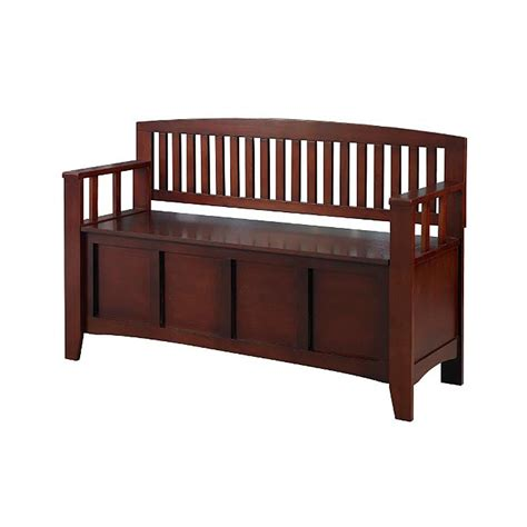 entryway bench with storage shop linon home decor walnut indoor entryway bench with