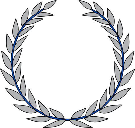 Frame Foto Frame 4r Fancy blue grey laurel clip at clker vector clip