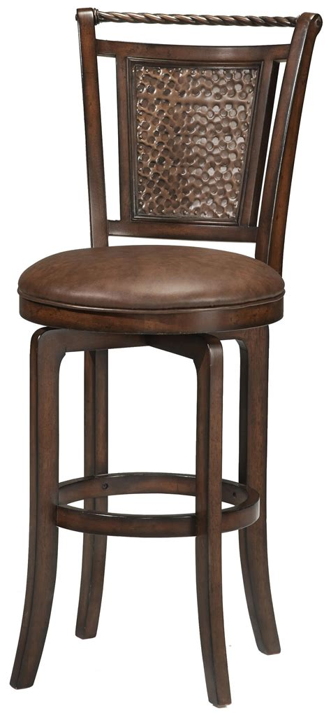 wood stools 30 5 quot bar height norwood swivel stool by