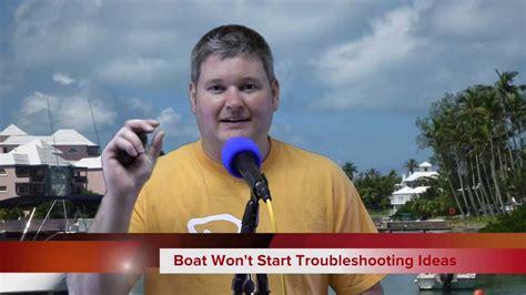 boat engine not starting boat engine won t start troubleshooting steps youtube