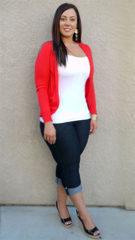 pinterest fashion for curvy women over 40 casual outfits for women over 40 red and white pinteres