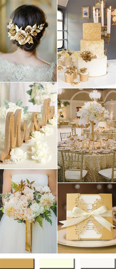 2017 the Best Gold Wedding Colors Combos Trends   future