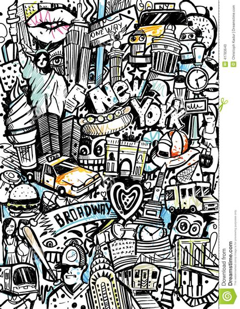 new pattern vector new york style pattern stock illustration image 41783640