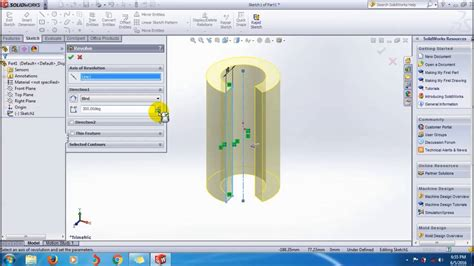 solidworks tutorial revolved boss learn solidworks revolved boss base feature tutorial
