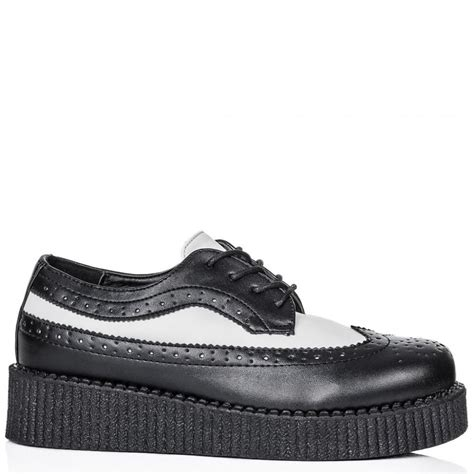 oxford creepers shoes buy outrage brogue lace up creeper platform shoes black