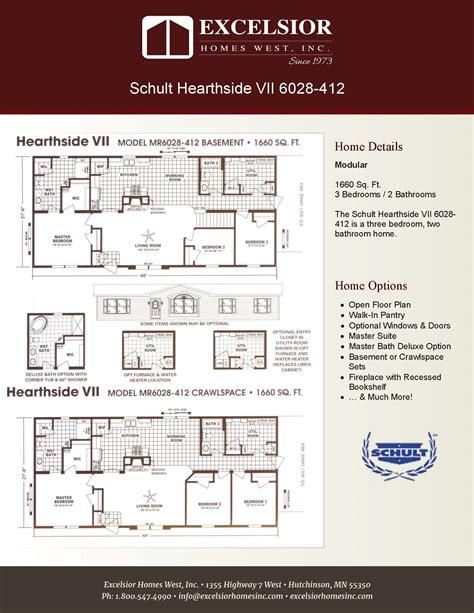 manufactured home floor plan 2008 schult hearthside schult hearthside vii excelsior homes west inc