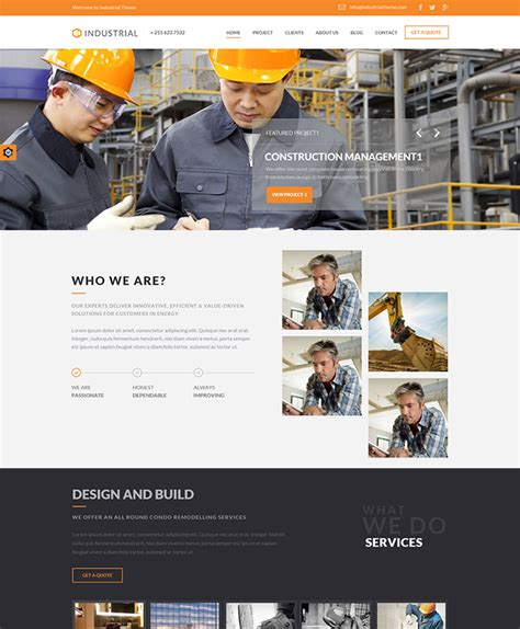 themes wordpress engineering industrial wordpress theme buy premium industrial