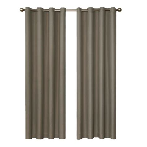 home depot curtain panels eclipse cassidy blackout white polyester grommet curtain