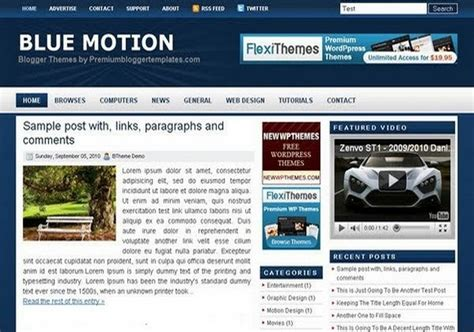science templates for blogger blue motion blogger template 2014 free download