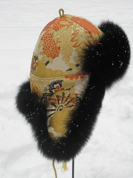 Handmade Fur Hats - model tibet fur hat inspired from the silk road handmade