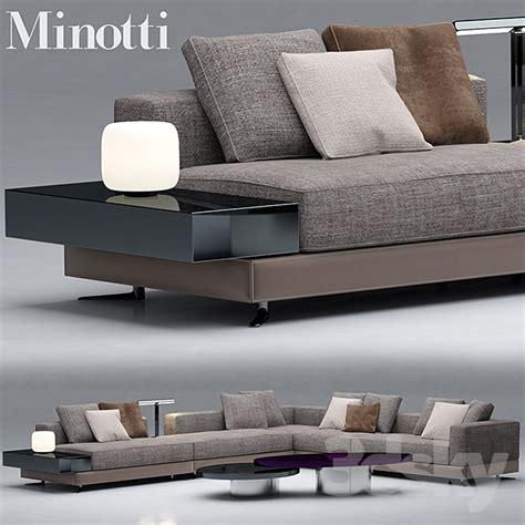 sofa minotti sofas white 3d models free
