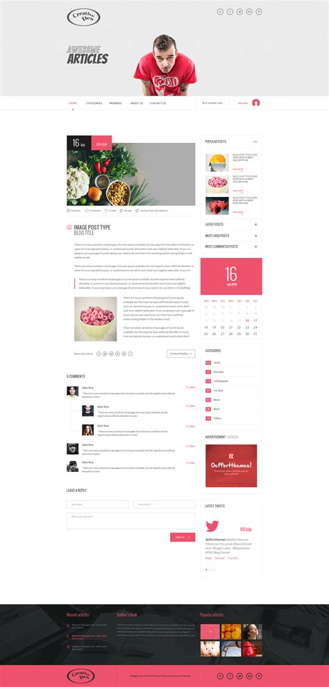blogger themes with menu bloggers den one page personal blog template by