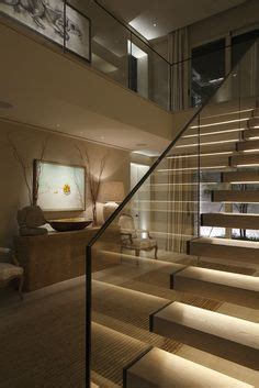 bathroom lighting requirements boxed cantilevered stair staircase timber