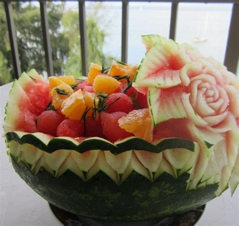 Carved Watermelon Basket ? Thai Creations