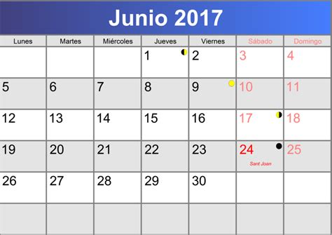 Calendario De Junio Calendario Junio 2017 Imprimible Pdf Abc Calendario Es