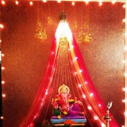 ganpati home decoration ganpati decoration indian customs pinterest decoration