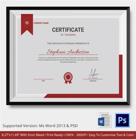 business certificate templates certificate template 14 free word pdf psd