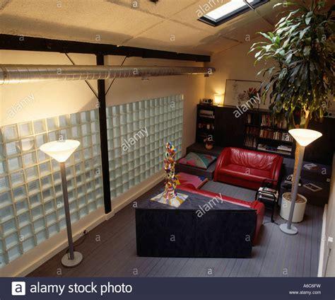 Narrow Loft Living Room Glass Brick Wall In Narrow Loft Conversion Living Room