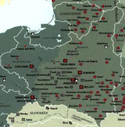 Concentration Camps In Germany Map by Map Of Concentration Camps In Poland Amp Lithuania