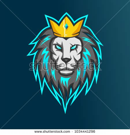 membuat logo squad game lion esports logo your team game stock vector 1034441296