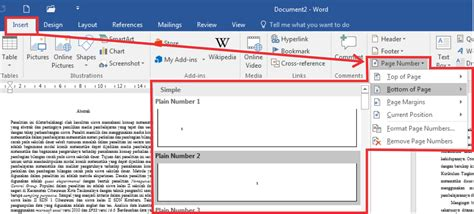 membuat nomor halaman dengan format cara membuat nomor halaman dengan format dan posisi yang
