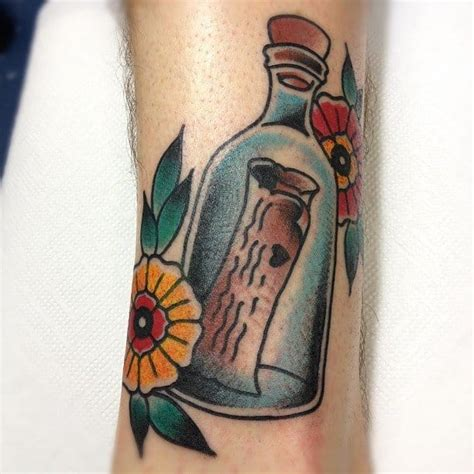 message in a bottle tattoo 15 evoking message in a bottle tattoos tattoodo