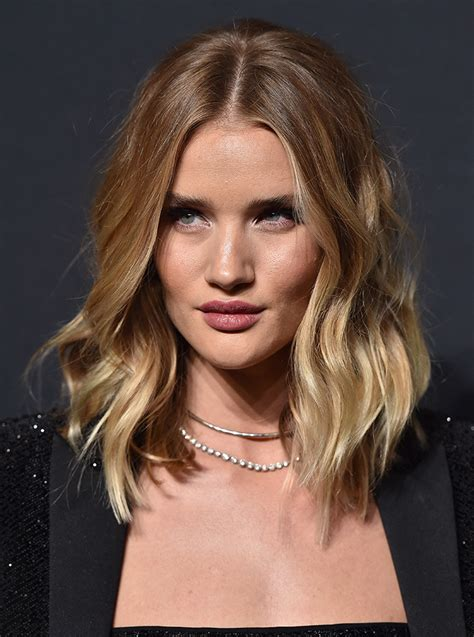 rosie huntington side parted lob 20 reasons to get a haircut like right now stylecaster