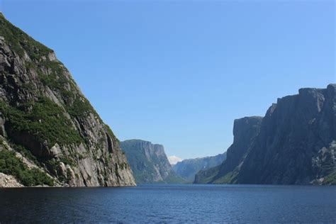 fjord newfoundland western brook pond fjord gros morne national park