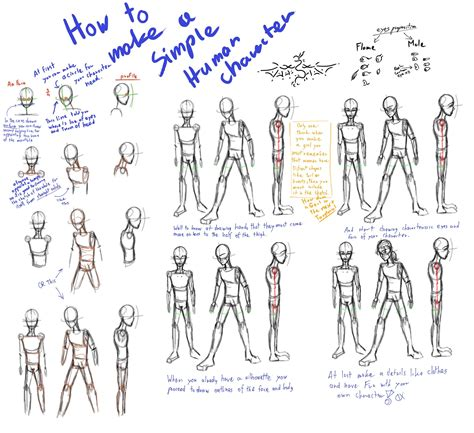 how to draw a character toryturial how to make a simple character by