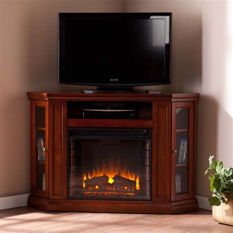 brown electric fireplace 48 quot claremont convertible media electric fireplace brown