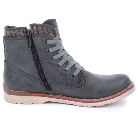gray boots mustang 4061 501 20 mens ankle boots in grey