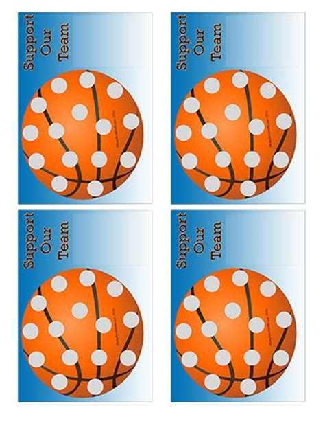 Free Scratch Card Templates by Easyscratchoffs Basketball Fundraiser Scratch And Win