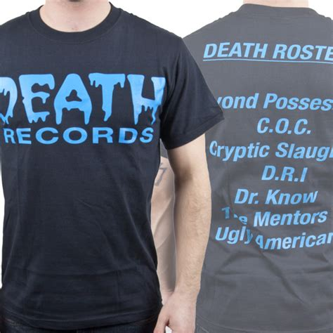 Recorded Deaths From Metal Blade Records Quot Records Quot T Shirt Metal Blade Records