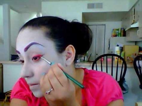 tutorial makeup geisha theatre geisha makeup youtube