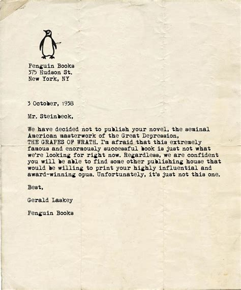 Rejection Letter New Yorker Rejection Letters Andy Warhol Received The Above Rejection Letter From New York S Museum Of