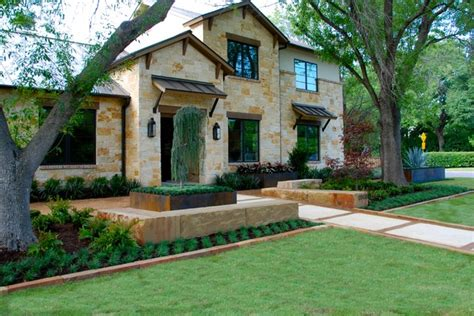 House Of Design Dallas Tx Modern Ranch Style Home Mediterranean Landscape