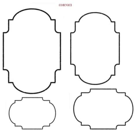 cornici per disegni sagome di cornici per decorare biglietti di auguri
