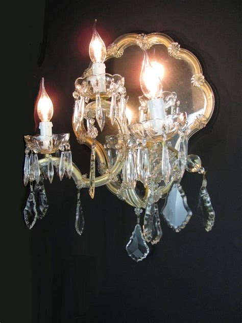 applique in cristallo applique antiche cristallo bohemia a tre con specchio