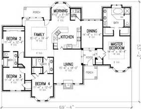 1 Story House Floor Plans by Elegant Single Story 19187gt 1st Floor Master Suite