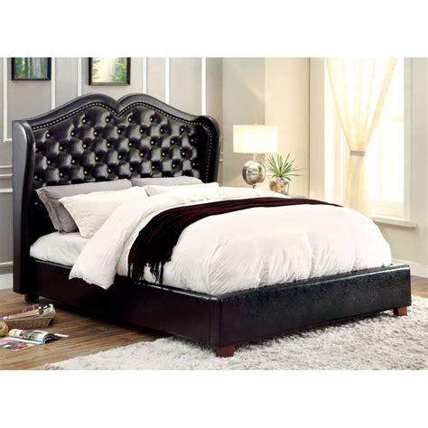 king bed black monroe california king size bed black finishcm7016bk ck bed