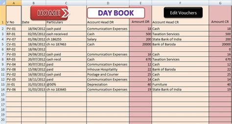 template accounts for small company small business accounting excel templates