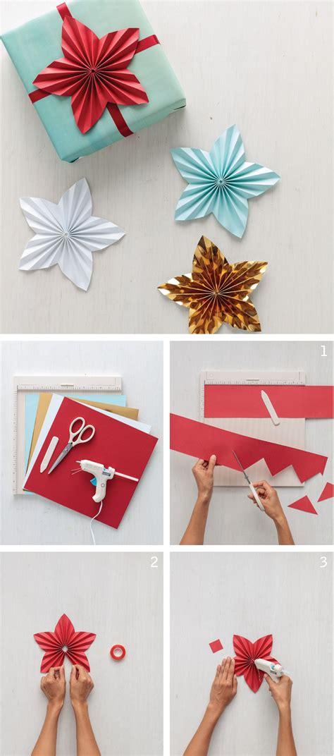 paper star gift toppers beautiful craftsman and crafts
