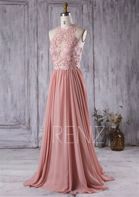 rose themed wedding dress 2016 dusty rose bridesmaid dress lace transparent by