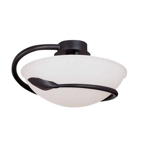 searchlight 2901br cobra 1 light brown semi flush