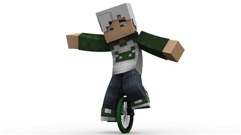 minecraft imac rig cinema 4d anz creations minecraft unicycle rig cinema 4d youtube