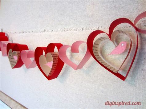Valentines Day Paper Crafts - valentines day craft diy garland diy inspired