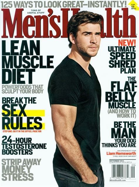 Mens Health Malaysia April 2012 diary liam hemsworth in revista quot s health quot septembrie 2012