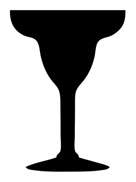 File Margarita Glass Silhouette Svg Wikimedia Commons