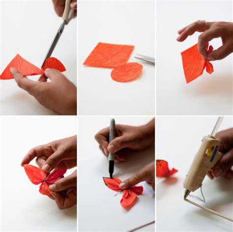 How We Make Paper - crepe paper butterflies diy