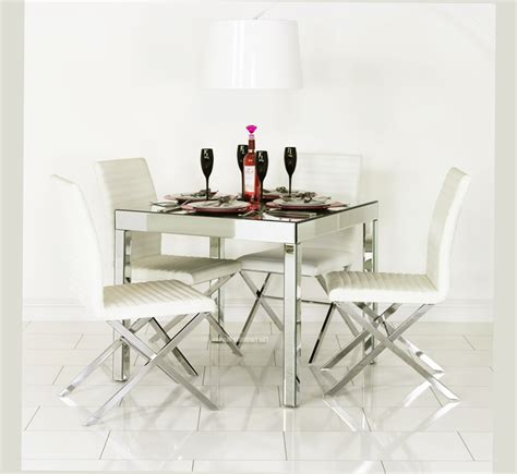 mirrored dining room set mirrored dining table for dining room best ellecrafts